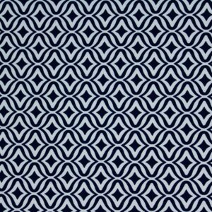 Geometric Pattern Printed Fabric Navy Blue