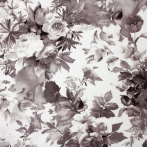 Printed Fabric Ecru flowers Background