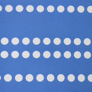 Ткань Принт Молочный Горохи Голубой Фон