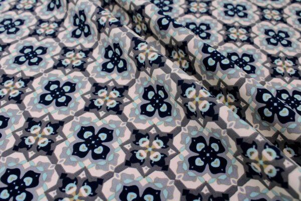 Tkanina Drukowana Sukienkowa Garniturowa Geometryczny Wzór