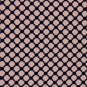 Ткань Принт Цветы Синий Пудра