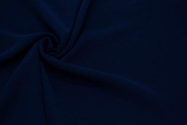 Tkanina Bluzkowa Sukienkowa Granatowy