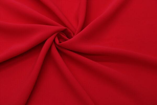 Tkanina Sukienkowa Bluzkowa Czerwony